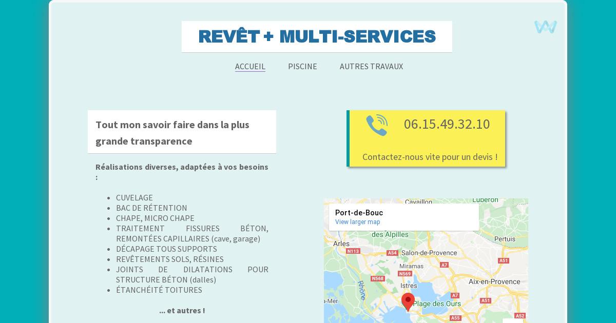 Revet piscine renovation batiment multi services for Reduire profondeur piscine beton